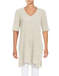 Eileen Fisher Organic Linen And Organic Cotton Blend Tunic Pebble