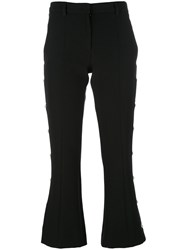 Versus Cropped Flared Trousers Black