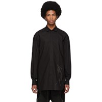 Rick Owens Black Thread Office Shirt