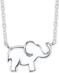 Unwritten Elephant Pendant Necklace In Sterling Silver 16 2