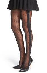 Chelsea 28 Dot And Scallop Pantyhose Black
