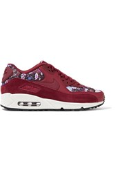 Nike Air Max 90 Se Floral Print Canvas Burgundy