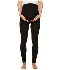 Plush Maternity Fleece Lined Footless Tights Black Hose