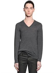 The Kooples Fine Wool Knit V Neck Sweater