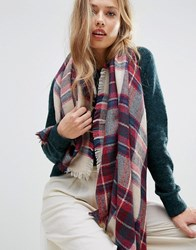 Yumi Abstract Knit Scarf Multi