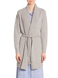 Michael Michael Kors Merino Wool And Cashmere Wrap Cardigan Pearl Heather