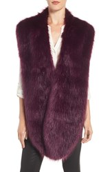 Badgley Mischka Women's Faux Mink Stole