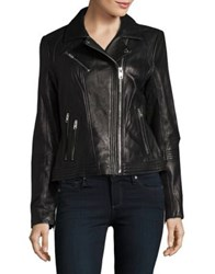 Michael Michael Kors Asymmetrical Moto Jacket Black