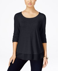 Styleandco. Style Co. Petite Chiffon Hem Top Only At Macy's Dark Grape