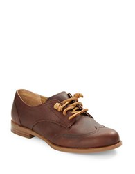 Sperry Devon Leather Lace Up Oxfords Brown Tan