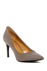 14Th And Union Pointed Toe Heel Charcoal Faux Suede