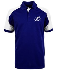 Antigua Men's Tampa Bay Lightning Century Polo Shirt Royalblue White
