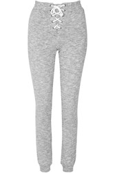 Glamorous Lace Up Front Grey Marl Jogging Trousers Grey