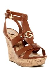 G By Guess Dashh Wedge Sandal Brown