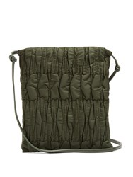 The Row Medicine Large Quilted Nylon Cross Body Bag Dark Green