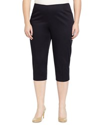 Lafayette 148 New York Straight Leg Capri Pants Navy
