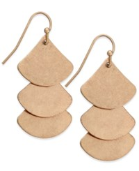 Inc International Concepts Gold Tone Triple Scale Drop Earrings Only At Macy's