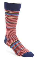 Bugatchi Men's 'Rainbow Stripe' Socks Ruby