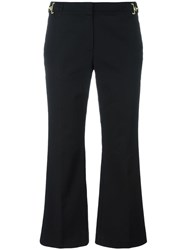 Michael Michael Kors Cropped Flared Trousers Black