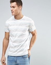 Solid T Shirts In Multi Stripe 1112 White