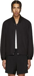Christophe Lemaire Black Ribbed Collar Jacket