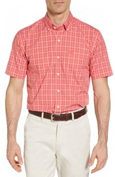 Cutter And Buck 'S Big Tall Leo Classic Fit Easy Care Sport Shirt Tangelo