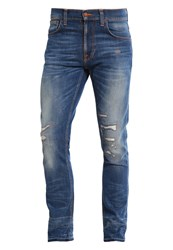 Nudie Jeans Lean Dean Slim Fit Niclas Replica Destroyed Denim