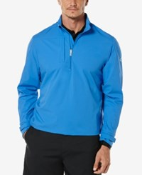 Callaway Men's Colorblocked Quarter Zip Windshirt Palace Blue