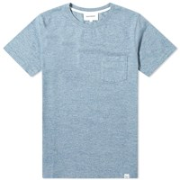 Norse Projects Niels Organic Mouline Tee Blue