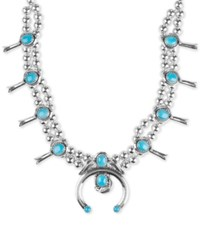 Macy's Manufactured Turquoise 23 5 8 Cttw Beaded Statement Necklace In Sterling Silver