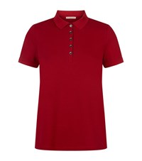 Burberry Brit Check Detail Polo Shirt Female Red