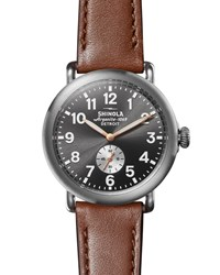Shinola 41Mm Runwell Watch With Titanium Case Silver