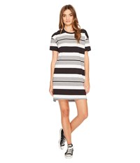 Converse Striped Short Sleeve Tee Dress Black Multi Women's Dress