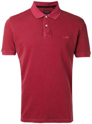Woolrich Classic Polo Shirt Men Cotton Elastodiene Xl Red
