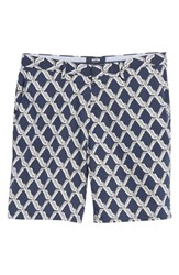 Vilebrequin Rope Print Poplin Chino Shorts Squid Ink Canvas