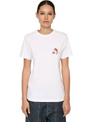 Loewe Animals Printed Cotton Jersey T Shirt White