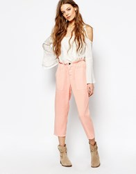 Vanessa Bruno Athe Loose Pants In Pink 0019 Poudre