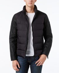 Armani Exchange Men's Down Puffer Jacket Solid Blac