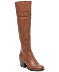 Madden Girl Wendii Tall Boots Women's Shoes Cognac