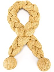Issey Miyake Vintage 'Braid' Scarf Yellow And Orange