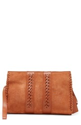 Sole Society Wahli Clutch Brown Cognac