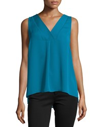 Laundry By Shelli Segal Sleeveless Double Layer Top Moroccan Blue
