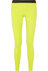 Alexander Wang High Density Lux Ponte Jersey Leggings Yellow