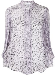 Lala Berlin Leopard Print Fitted Blouse 60