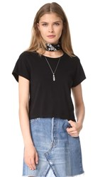 Re Done X Hanes 1950S Boxy Crop Tee Black