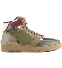 Valentino Rock Be Camouflage High Top Trainers Gold Comb