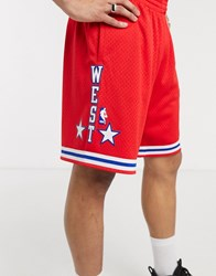 Mitchell And Ness 1988 All Star West Swingman Shorts In Red
