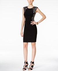 Inc International Concepts Laser Cutout Sheath Dress Only At Macy's Deep Black