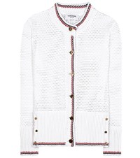 Thom Browne Cotton Cardigan White