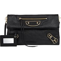Balenciaga Women's Classic Envelope Clutch Black